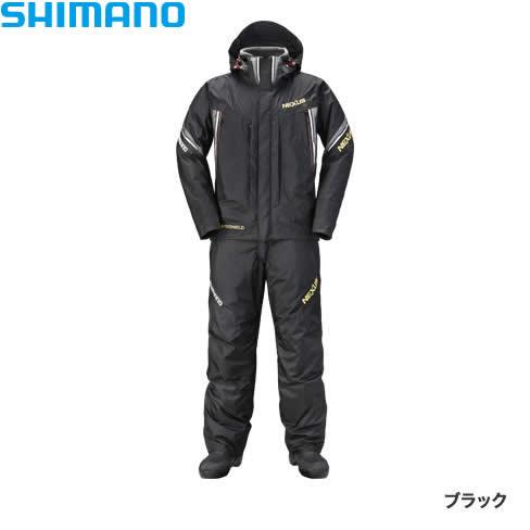 シマノ ネクサスDSコールドウェザースーツ XT ブラック RB-125R M~XL(防寒着 防寒ウエア 防水防寒上下セット)