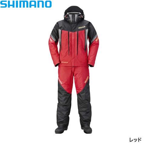シマノ ネクサスDSコールドウェザースーツ XT レッド RB-125R M~XL (防寒着 防寒ウエア 防水防寒上下セット)