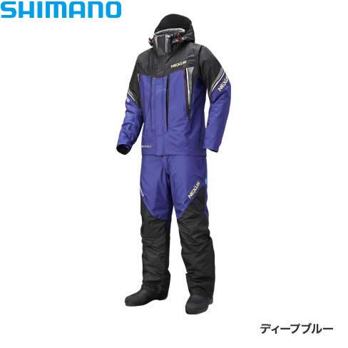 シマノ ネクサスDSコールドウェザースーツ XT ディープブルー RB-125R M~XL (防寒着 防寒ウエア 防水防寒上下セット)