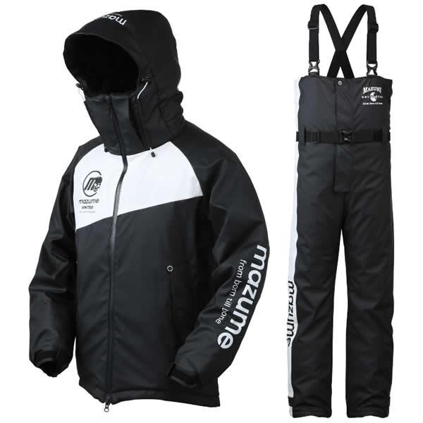 マズメ mazume ラフウォーター オールウェザースーツ MZFW-384 ブラックXホワイト (防寒着)