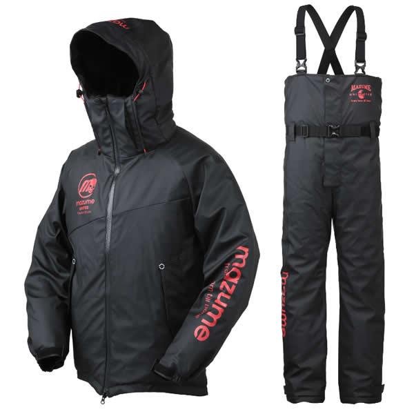 マズメ mazume ラフウォーター オールウェザースーツ MZFW-384 ブラックXレッド (防寒着)