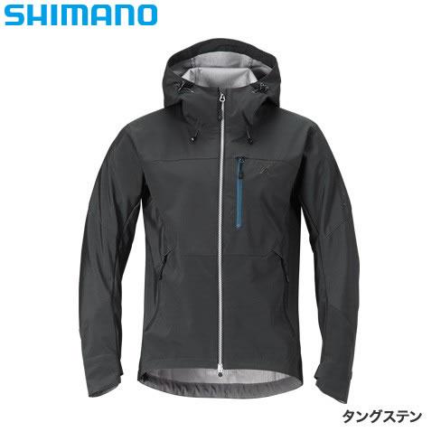 シマノ XEFO ストレッチジャケット JA-240R タングステン 2XL~3XL (防風着 ミドラー 釣り メンズ)