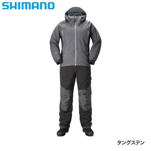 シマノ XEFO ストレッチ ウォームスーツ RB-224R タングステン 2XL~3XL (防寒着 防寒ウエア 防水防寒上下セット)