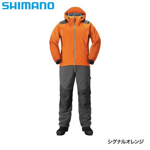 シマノ XEFO ストレッチ ウォームスーツ RB-224R シグナルオレンジ M~XL (防寒着 防寒ウエア 防水防寒上下セット)