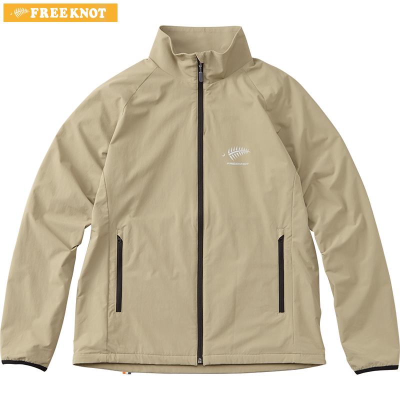 ハヤブサ フリーノット フォーオン ライトストレッチジャケット Y1136 ベージュ M~LL (防寒ウェア 防風 ミドラー)