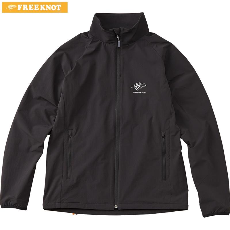 ハヤブサ フリーノット フォーオン ライトストレッチジャケット Y1136 ブラック 3L~4L (防寒ウェア 防風 ミドラー)