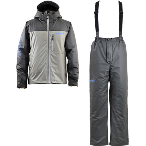 リバレイ RBB PUウォームスーツ No.8825 グレー M~LL (防寒着 上下セット)