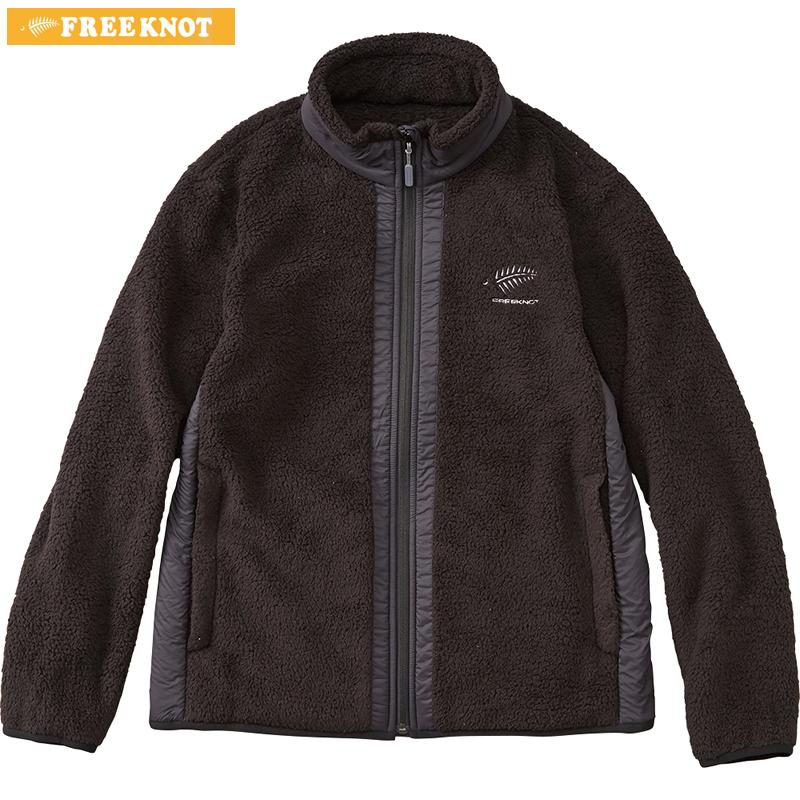 ハヤブサ フリーノット FOURON シェルフリースジャケット Y1137 ブラック S~LL (防寒)