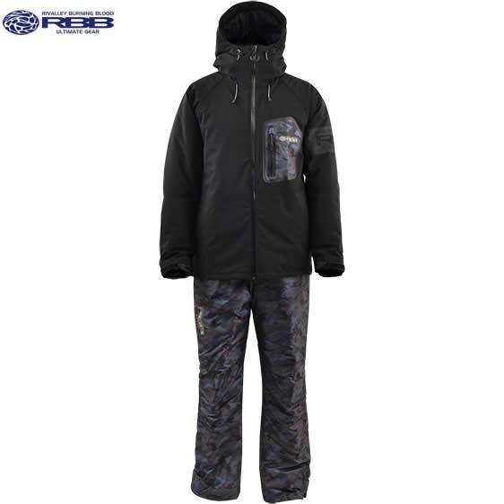 リバレイ RBB タイドウォームスーツ2 No.8771 ブラック×カモ M~LL (防寒着 上下セット)