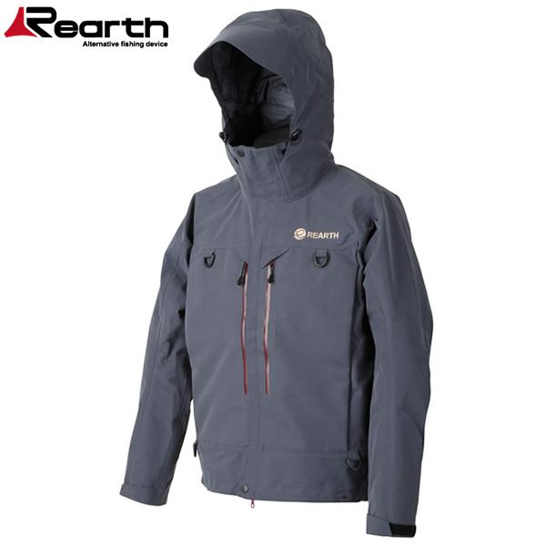 リアス ウェーディングジャケットシュプリーム FRS-9100 チャコールグレー(透湿レインジャケット ウェーディングジャケット)