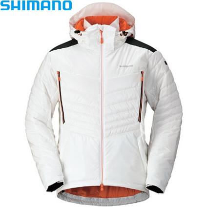 シマノ SPEXインシュレーションジャケット ホワイト M~XL JA-091Q (防寒着 防寒インナー)