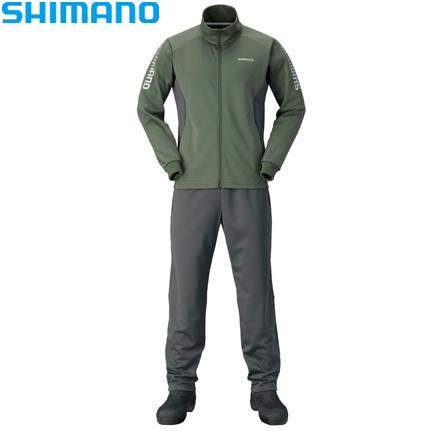 シマノ ライトスーツ カーキ M~XL MD-066Q (防寒着 防寒インナー)