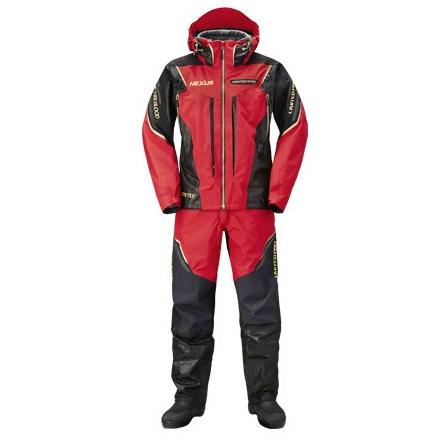 シマノ ネクサスGT プロテクトスーツ ブラッドレッド S~XL RT-112R (防寒着 防寒スーツ 上下セット)
