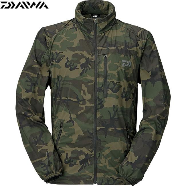 ダイワ ポケッタブルウインドジャケット グリーンカモ DJ-33009 (フィッシングジャケット) S~XL