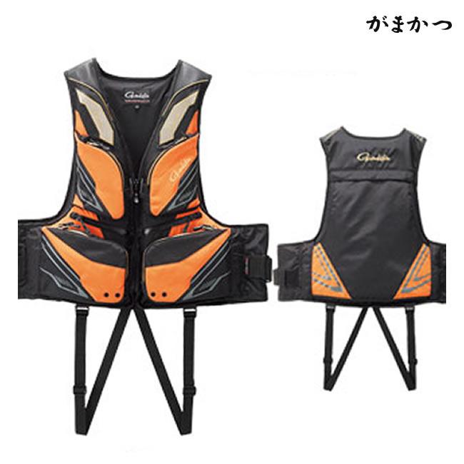 がまかつ フローティングベスト オレンジ GM-2180 (フローティングベスト ライフジャケット)