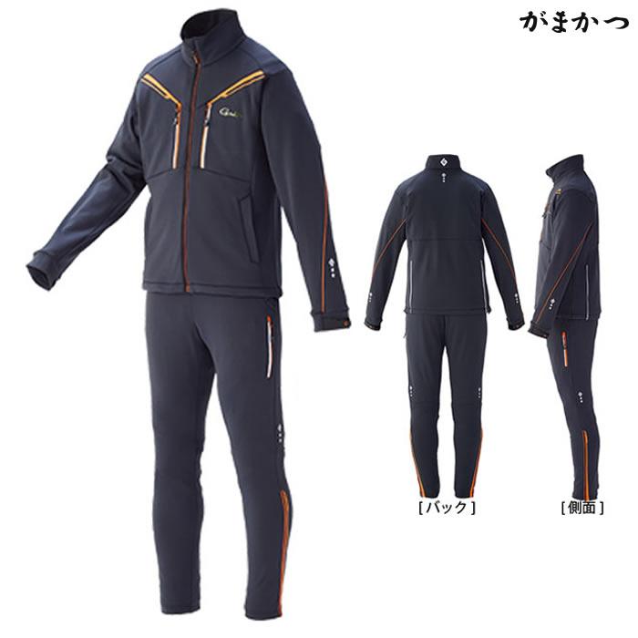 がまかつ ソフトシェルスーツ チャコール GM-3528 (防寒着 防寒ミドラー)