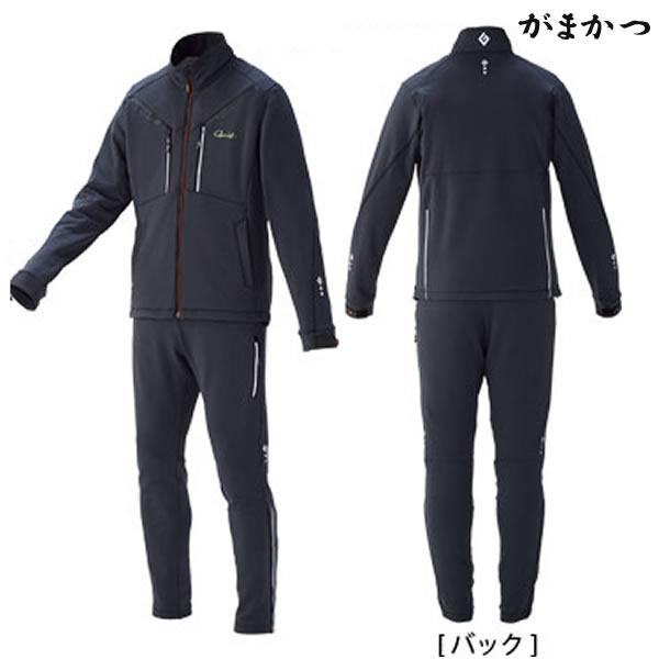 がまかつ ソフトシェルスーツ チャコール×カーボンブラック GM-3528 (防寒着 防寒ミドラー)