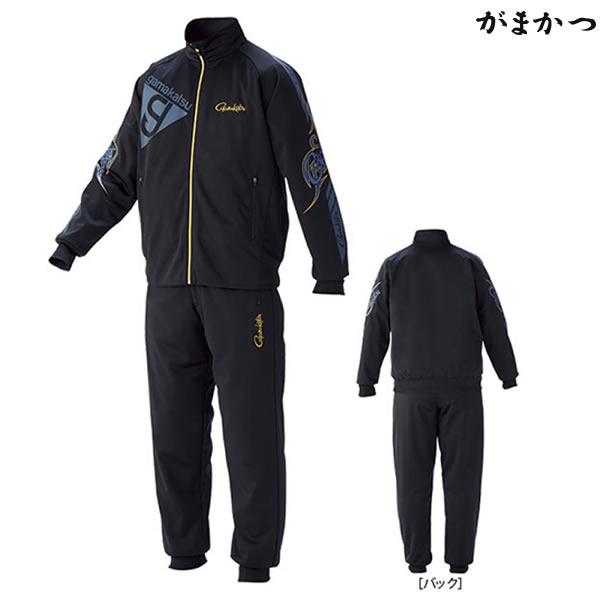 がまかつ ブリーズテックススーツ ブラック×ネイビー GM-3535 (防寒着 防寒ミドラー)