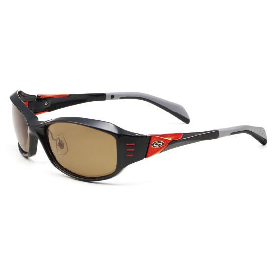 ストームライダー SR-010-P ファッションカーブタイプ2 #3 (サングラス 偏光グラス) ブラック×レッドメタル/マロンブラウン