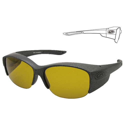 ストームライダー SR-016-P COVER GLASSES-DX #1 (サングラス 偏光グラス) マットGM/Bラバー/オリーブG
