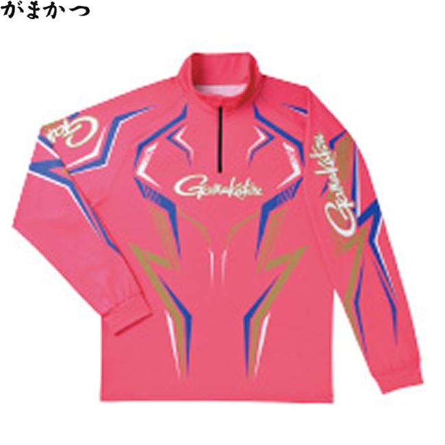 がまかつ 2WAYプリントジップS (長袖) サクラ GM-3540 (フィッシングシャツ)