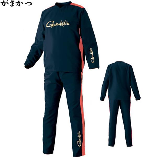 がまかつ プルオーバーピステスーツ ネイビー GM-3597 (フィッシングウェア)