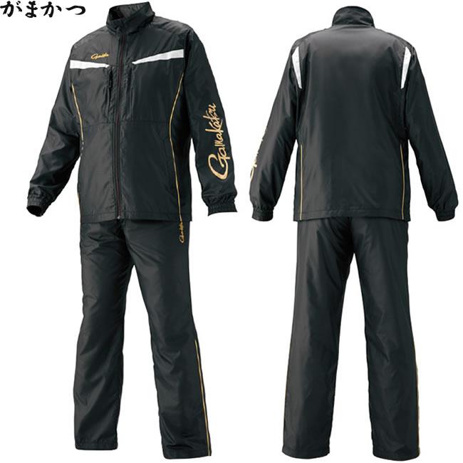 がまかつ ウインドブレーカースーツ ブラック GM-3574 (フィッシングウェア)