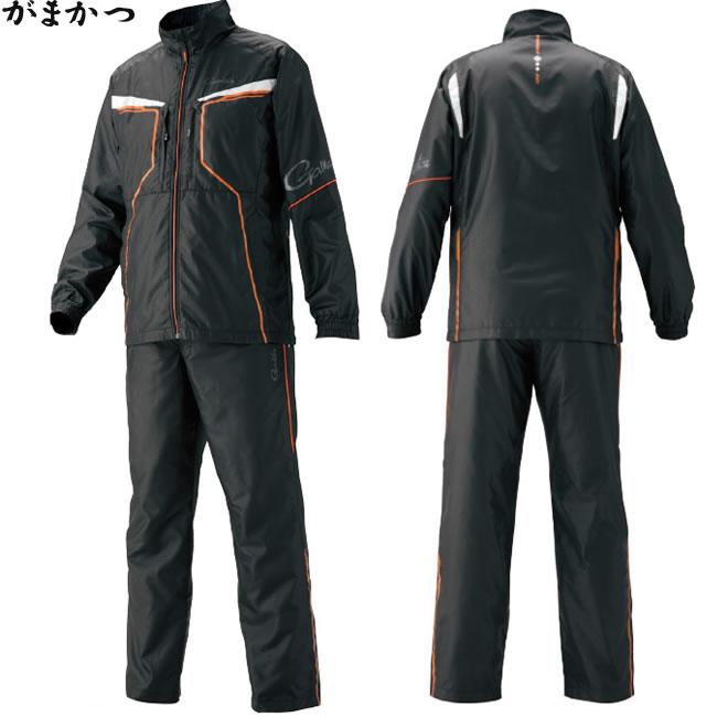 がまかつ ウインドブレーカースーツ オレンジ GM-3575 (フィッシングウェア)