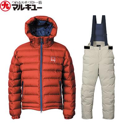 マルキュー ダウンスーツ オレンジレッド MQ-01 (防寒着 防寒ウエア)