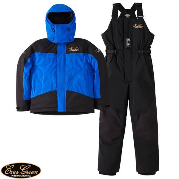 エバーグリーン EG ホットスーツ ブルー/ブラック EG HS-1 (防寒着 防寒ウエア)