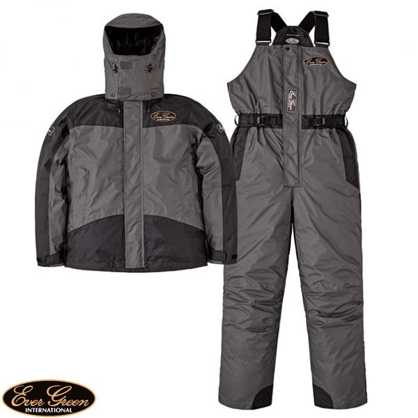 エバーグリーン EG ホットスーツ2 ディムグレー/ブラック EG HS-02 (防寒着 防寒ウエア)
