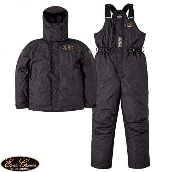エバーグリーン EG ホットスーツ2 ブラック/ブラック EG HS-02 (防寒着 防寒ウエア)