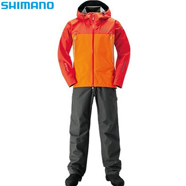 シマノ ゴアテックス ベーシックスーツ パンプキンオレンジ RA-017R XS~XL (レインウェア)