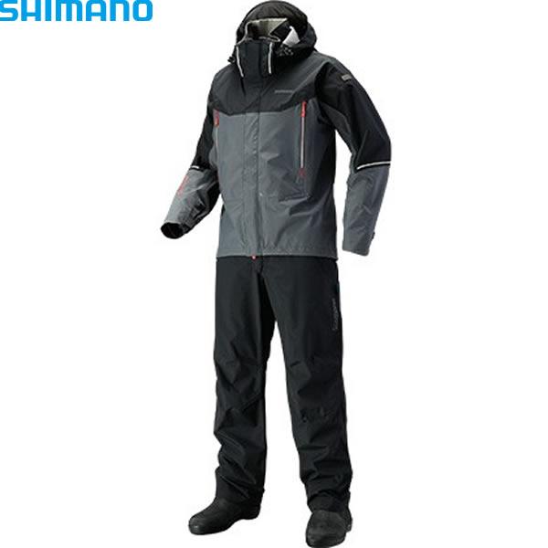 シマノ ドライシールド アドバンススーツ ブラック RA-025S S~XL (レインウェア)