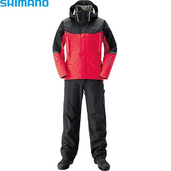 シマノ ドライシールド アドバンススーツ レッド RA-025S 2XL~3XL (レインウェア)