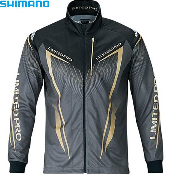 シマノ フルジップシャツ リミテッドプロ (長袖) ブラック 2XL SH-011S (フィッシングシャツ)
