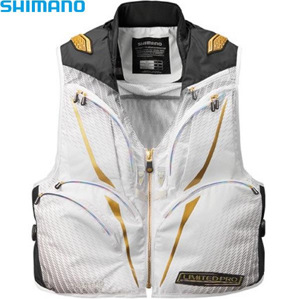 シマノ 2WAYベストリミテッドプロ ホワイト M~XL VE-011S (鮎ベスト)