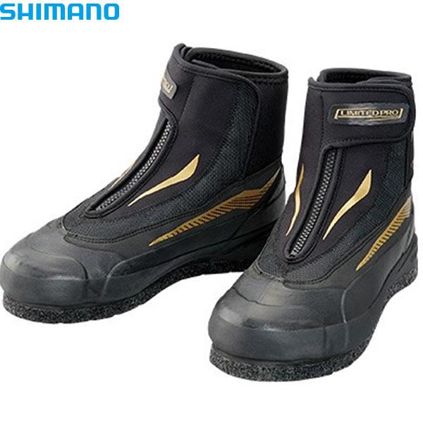 シマノ 3DカットピンフェルトシューズLTDプロ ブラック FA-057S (鮎タビ)