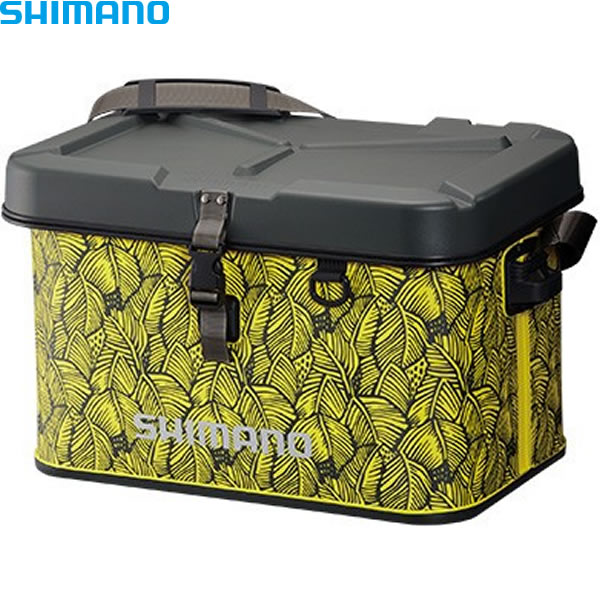 シマノ EVAタックルバッグ (ハードタイプ) 32L ボタニカルライム BK-002Q (EVAバッグ タックルバッグ)
