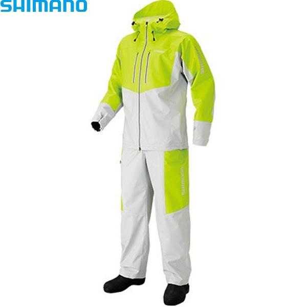シマノ マリンライトスーツ ライム RA-034N (レインウェア レインスーツ)