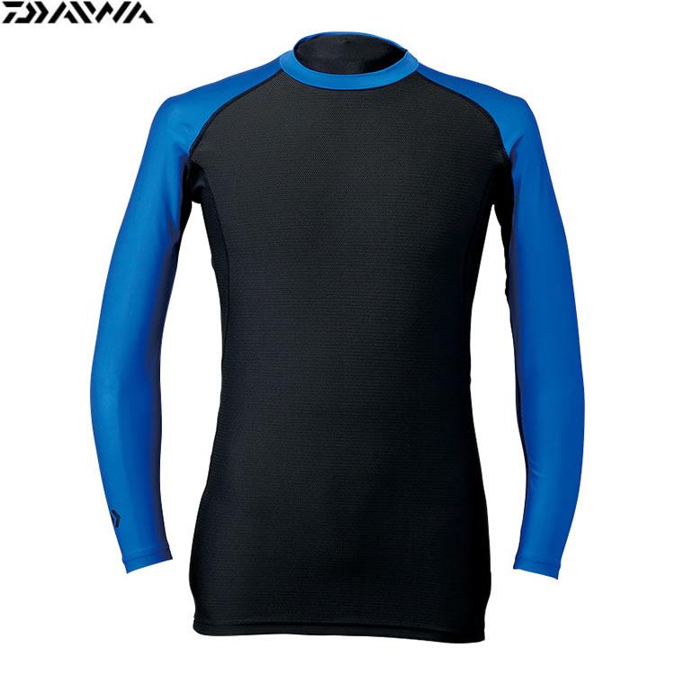 ダイワ UVカットクールアンダーシャツ クルーネック オーシャン DU-61009S (冷感肌着 クールインナー)