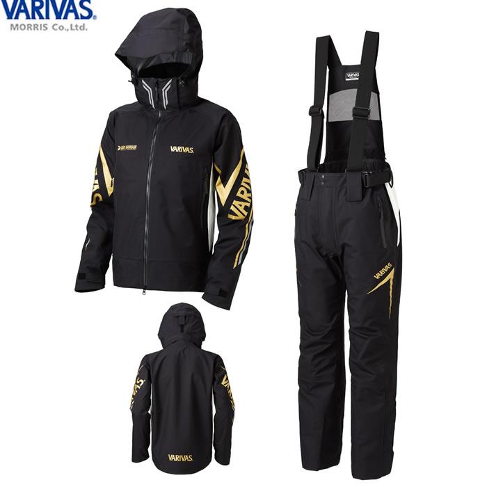 バリバス VARIVAS DARスーツ ブラック/グレー VARS-11 (レインウェア レインスーツ 上下セット)