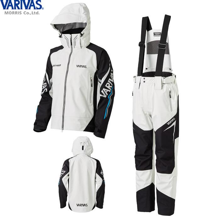 バリバス VARIVAS DARスーツ グレー VARS-11 (レインウェア レインスーツ 上下セット) 3L