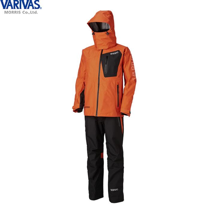 バリバス VARIVAS DAAレインスーツ オレンジ VARS-12 (レインウェア レインスーツ 上下セット) 3L
