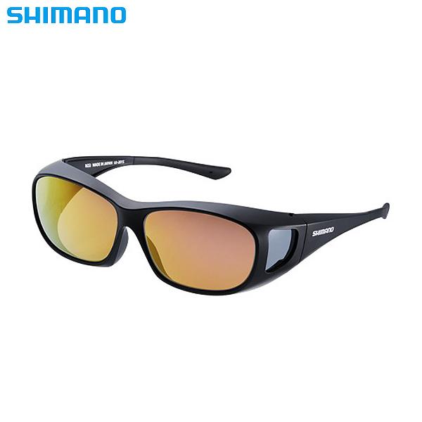 シマノ シマノオーバーグラス ブラック/ブラウンピンクゴールドミラー UJ-201S (偏光サングラス 偏光グラス 釣り メンズ)