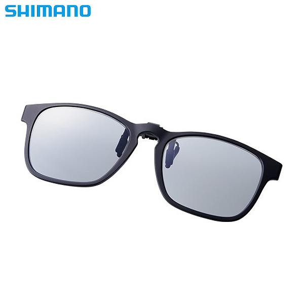 シマノ シマノクリップオングラス ブラック/グレー UJ-401S (偏光サングラス 偏光グラス 釣り メンズ)