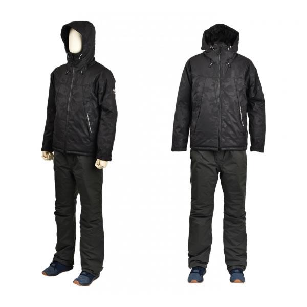 リバレイ RBBエクストリームウインタースーツ ブラック #8870 (防寒着 上下セット 釣り)