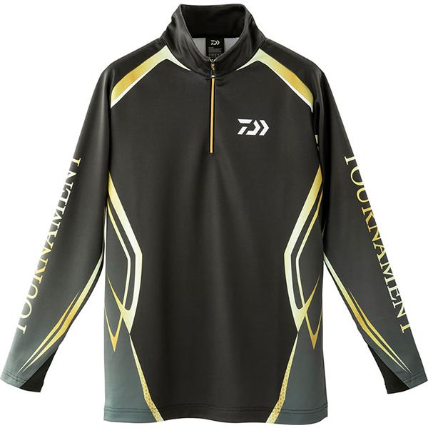 ダイワ トーナメント ブレスマジック ハーフジップシャツ ブラック DE-31009T (防寒インナー 発熱肌着) 2XL~3XL