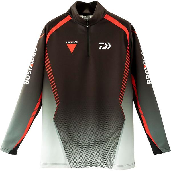 ダイワ プロバイザー ブレスマジック ハーフジップシャツ ブラック DE-32009 (防寒インナー 発熱肌着)