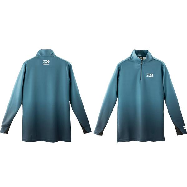 ダイワ ブレスマジック ハーフジップシャツ スモークネイビー DE-33009 (フィッシングシャツ フィッシングウェア 防風・防寒)